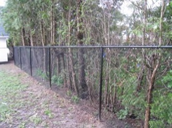 Metal fence - black