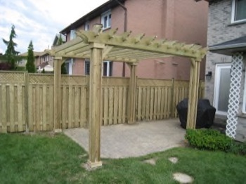 A simple wooden enclosure