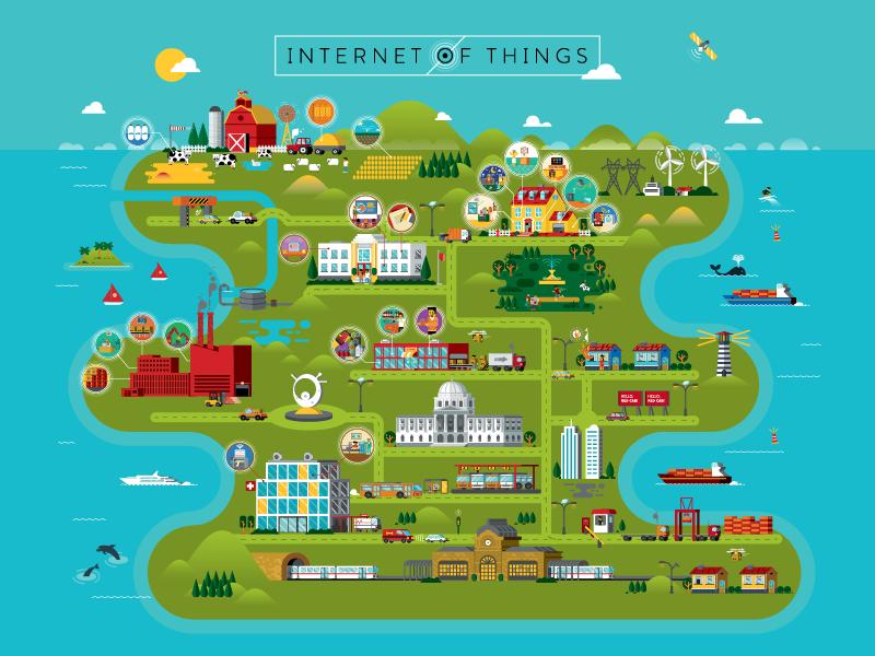 velocidade de internet em uma mapa