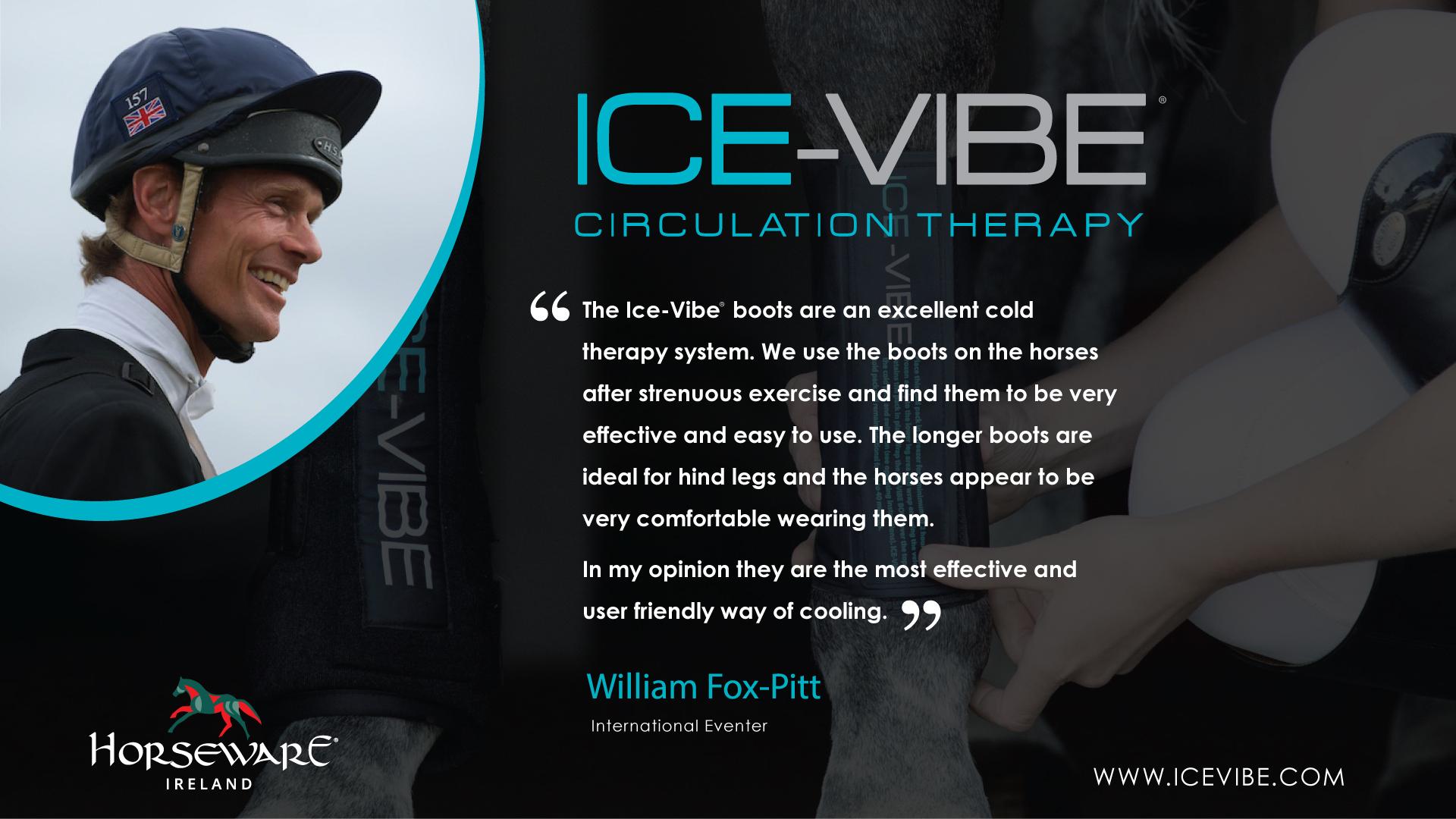Horseware advertisement for Icevibe