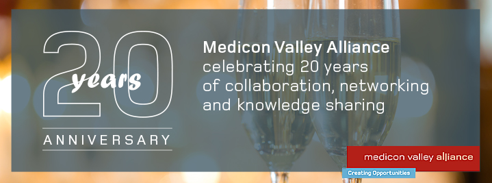 20 Years anniversary. Medicon Valley Alliance celebration 20 years of collaboration, networking and knowledge sharing
