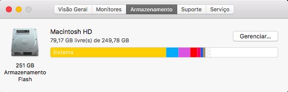 Armazenamento no MacOS