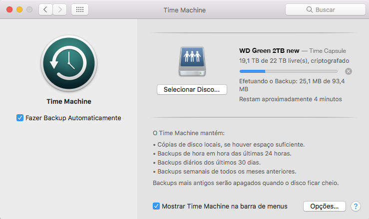 Time Machine no Mac OS