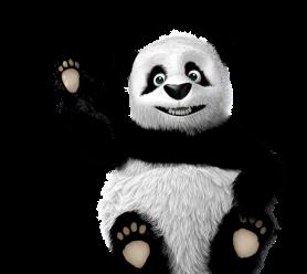 Waving TinyPNG panda mascot