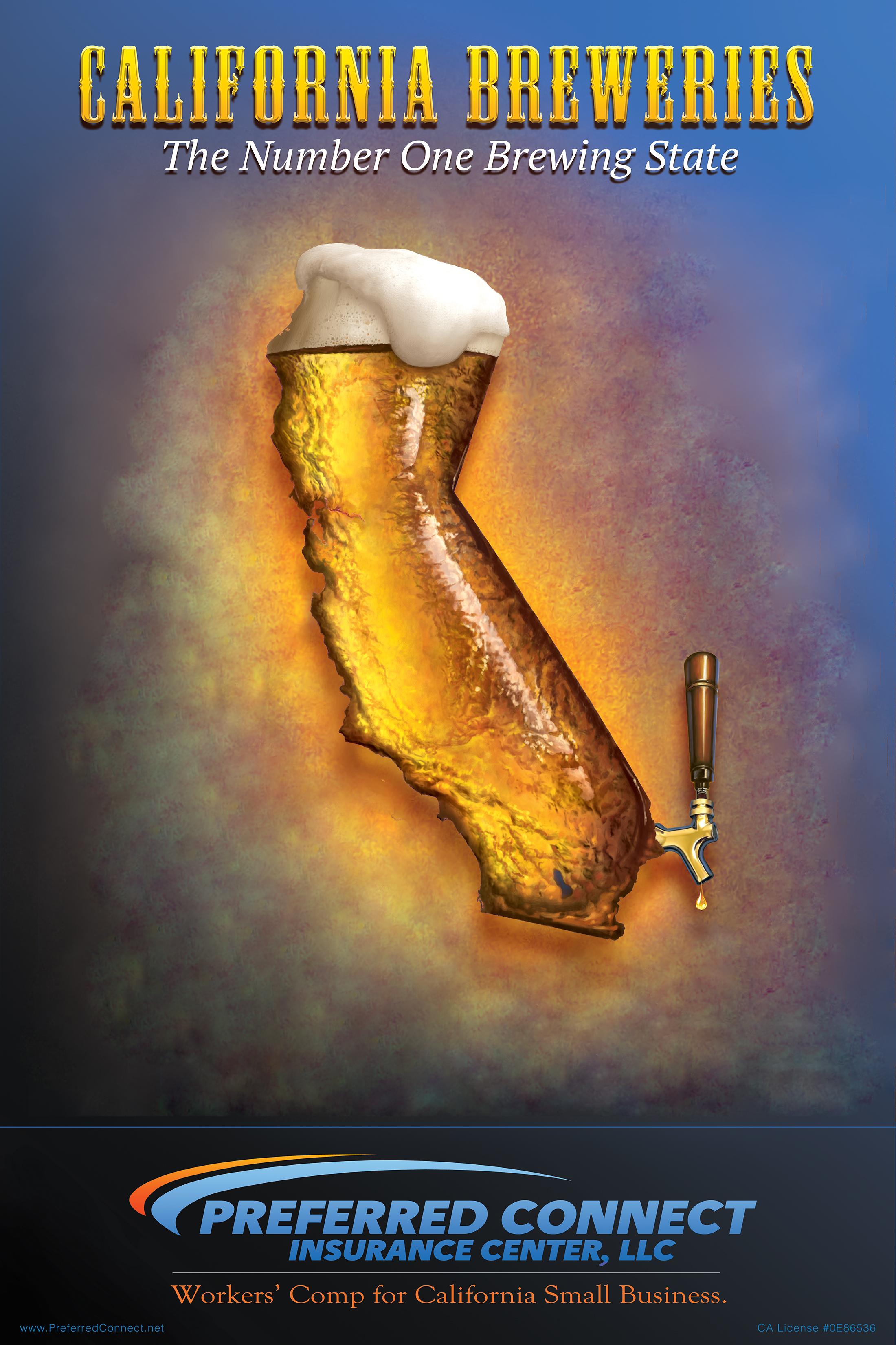 California Breweries Poster