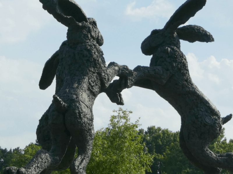 giant rabbit statue