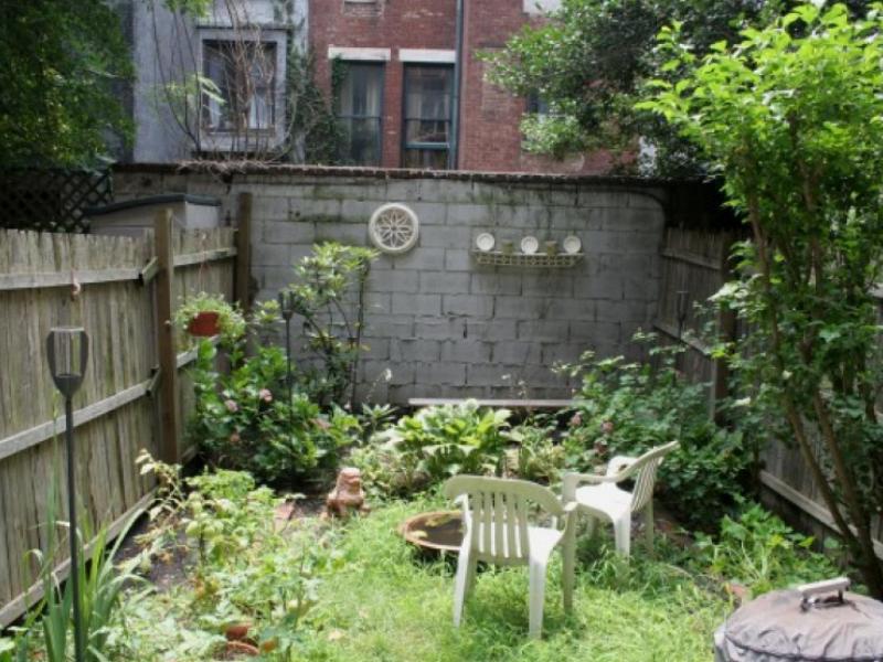 messy backyard