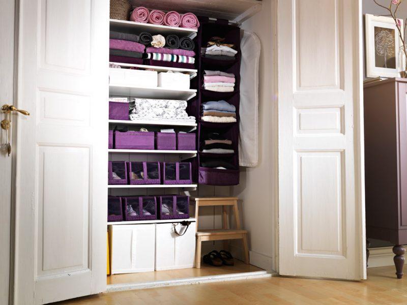 open closet with storage