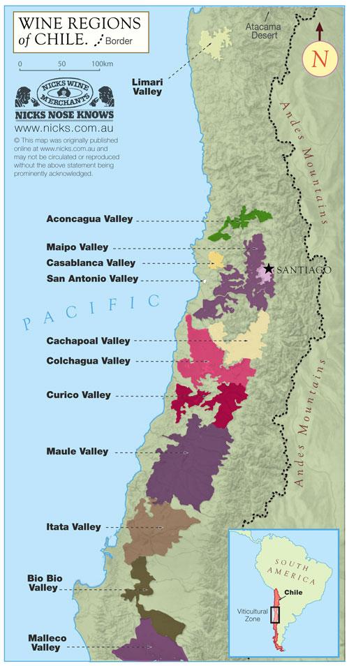 Chile Wine Map