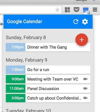 google calendar chrome extension