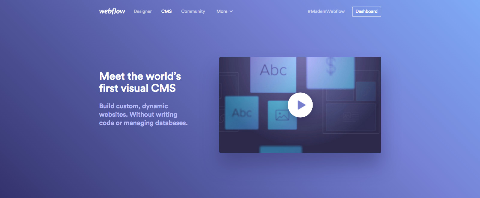 Webflow CMS