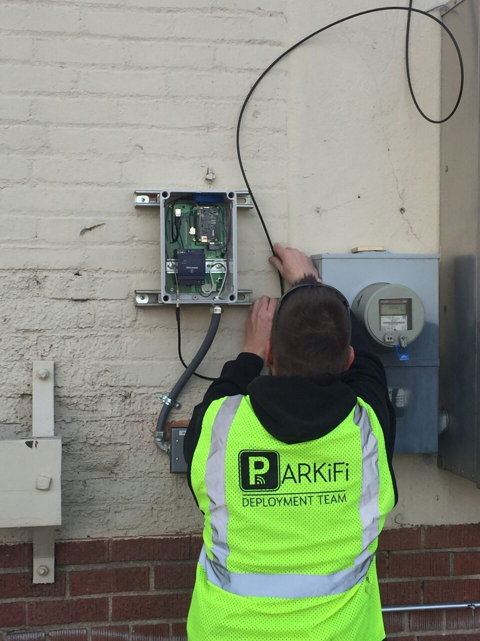 Lets Talk Hardware Parkifi And The Sensor Revolution Garage Electrical Circuit Wiring When Installing In Sensors Allow To Display Parking Spot Availability With 99 Accuracy Has Begun Double Installations Parallel Spots Ensure