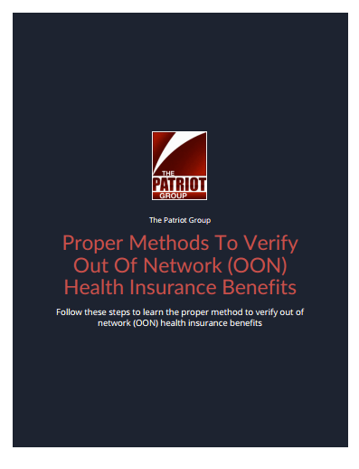 Proper Methods To Verify Out-Of Network (OON) Health Insurance Benefits