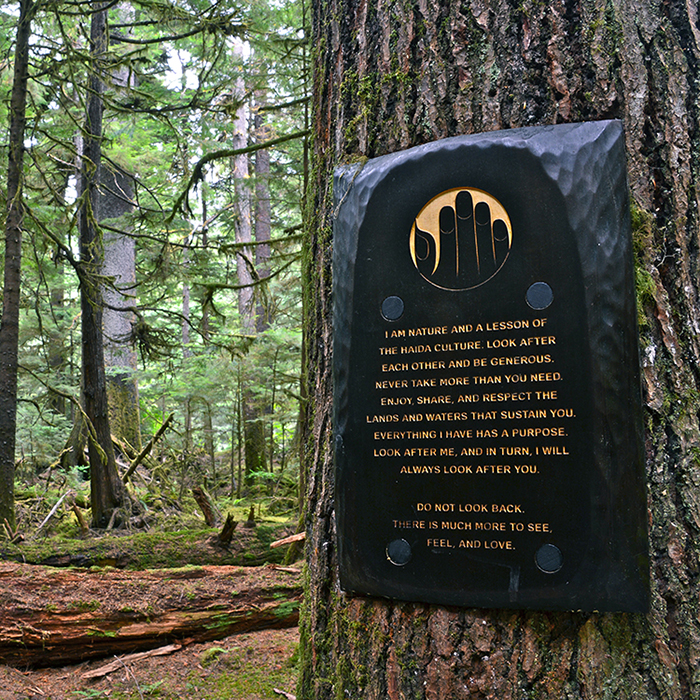 Experiential signage design for BC Parks.