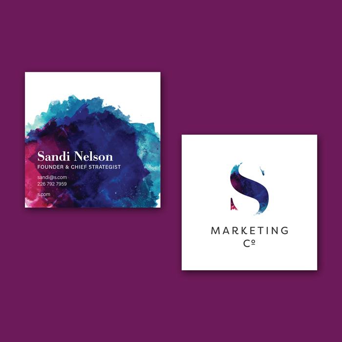 Flipside Creative, Business Card Design for S Marketing Co