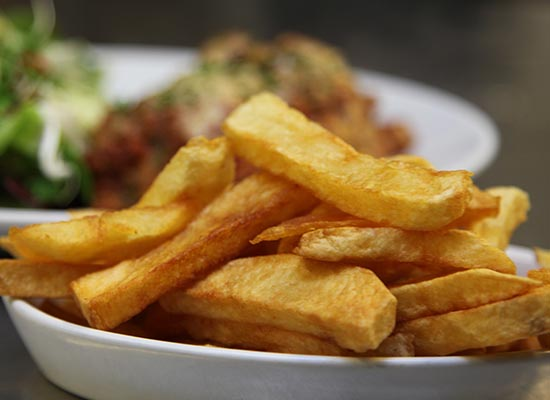 Photo of a bowl of chips.