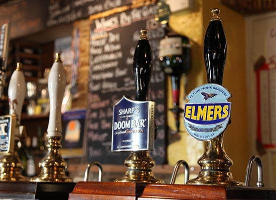 Photo of the local ales.