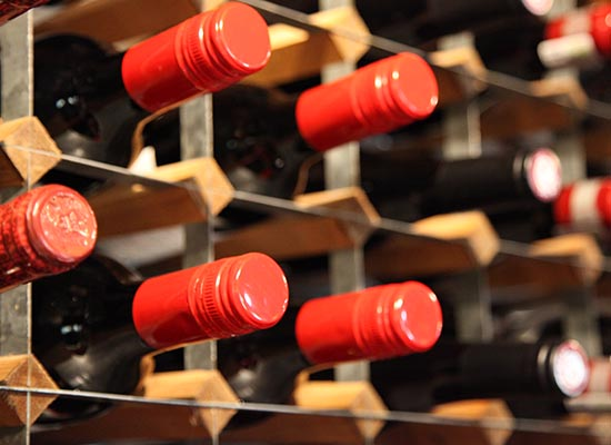 Photo of wine rack.