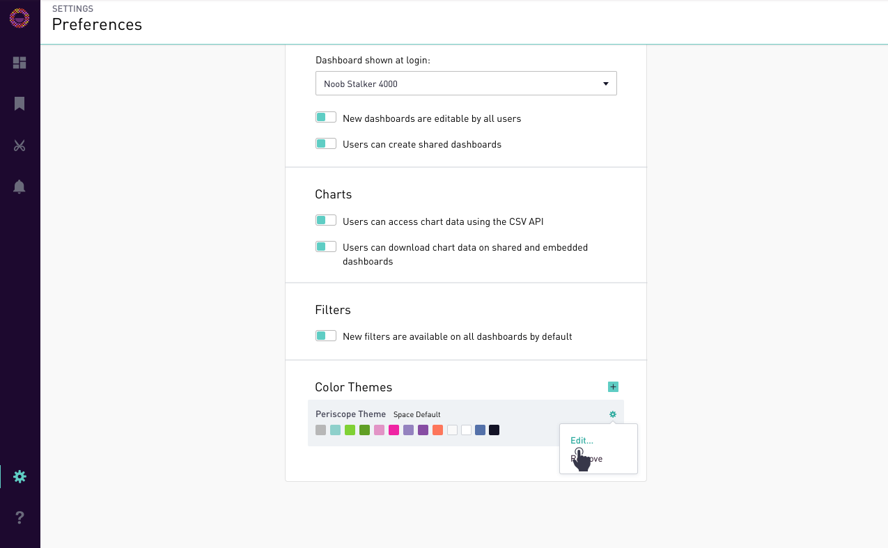 periscope data docs color themes