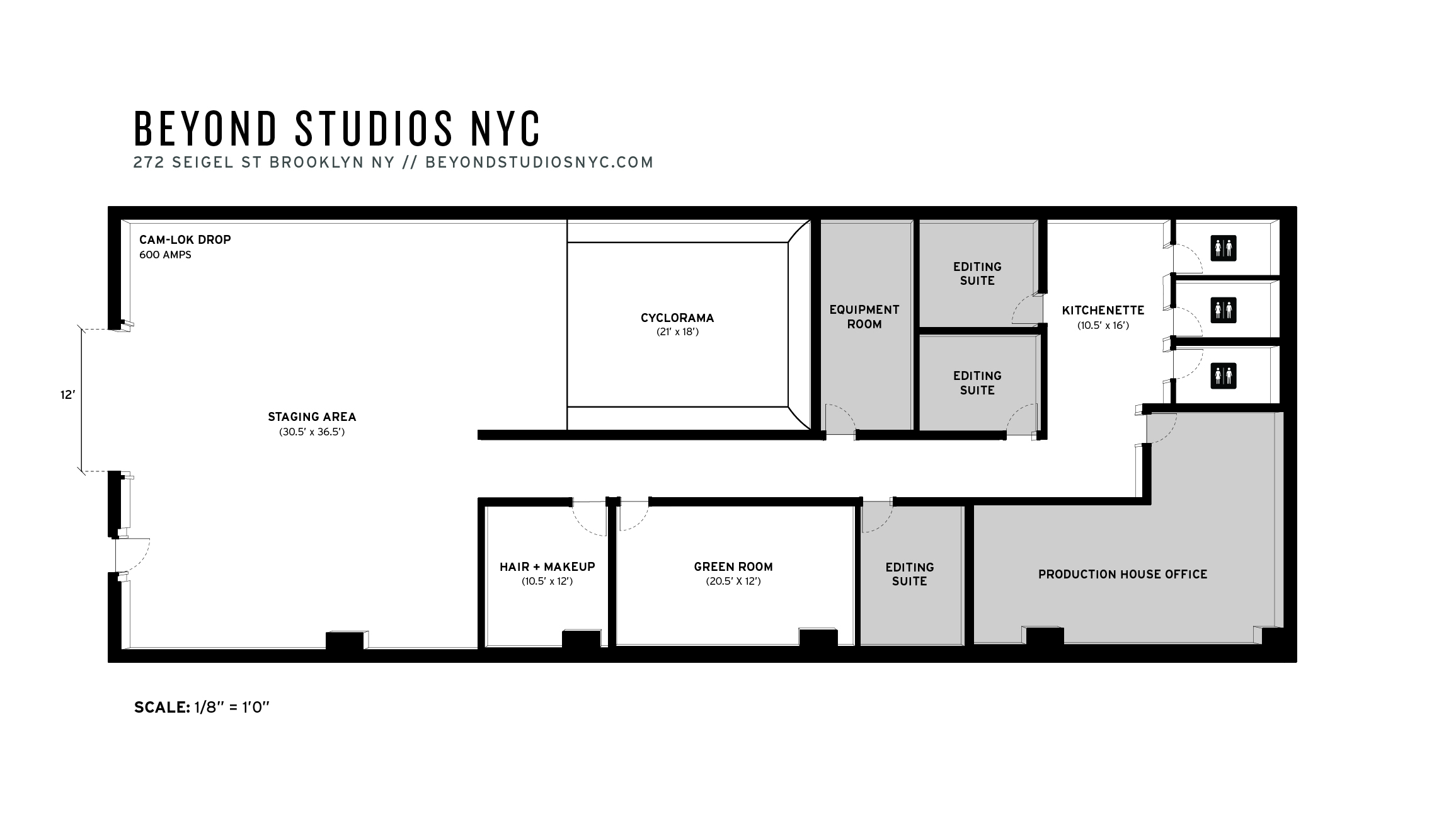 Beyond studios nyc about our photo studio for Photography studio floor plans