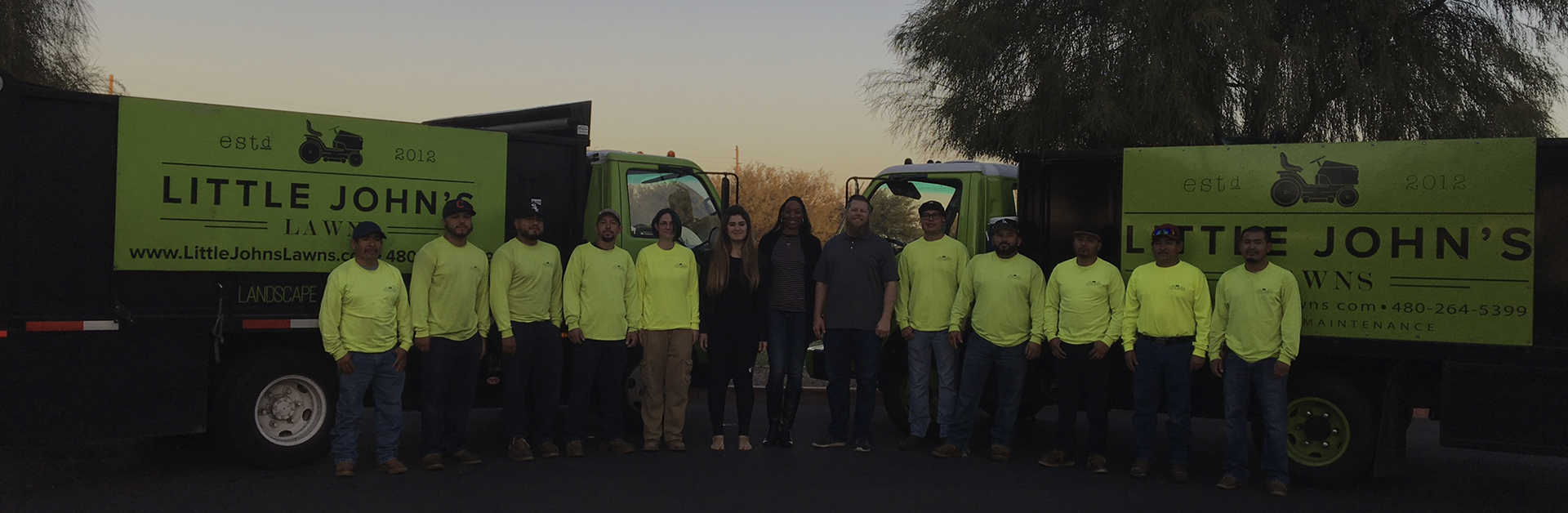 Employees of Little John's Lawns in Gilbert and Chandler Arizona