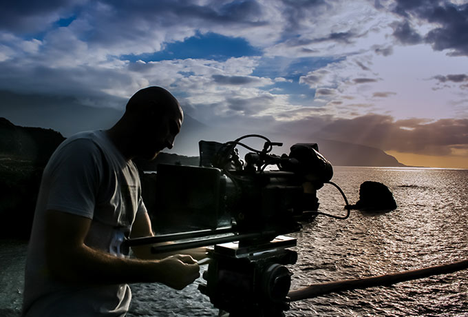 Video filming over the sea