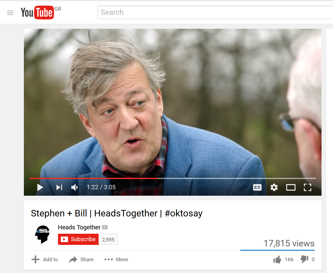 Stephen Fry in Heads Together YouTube video