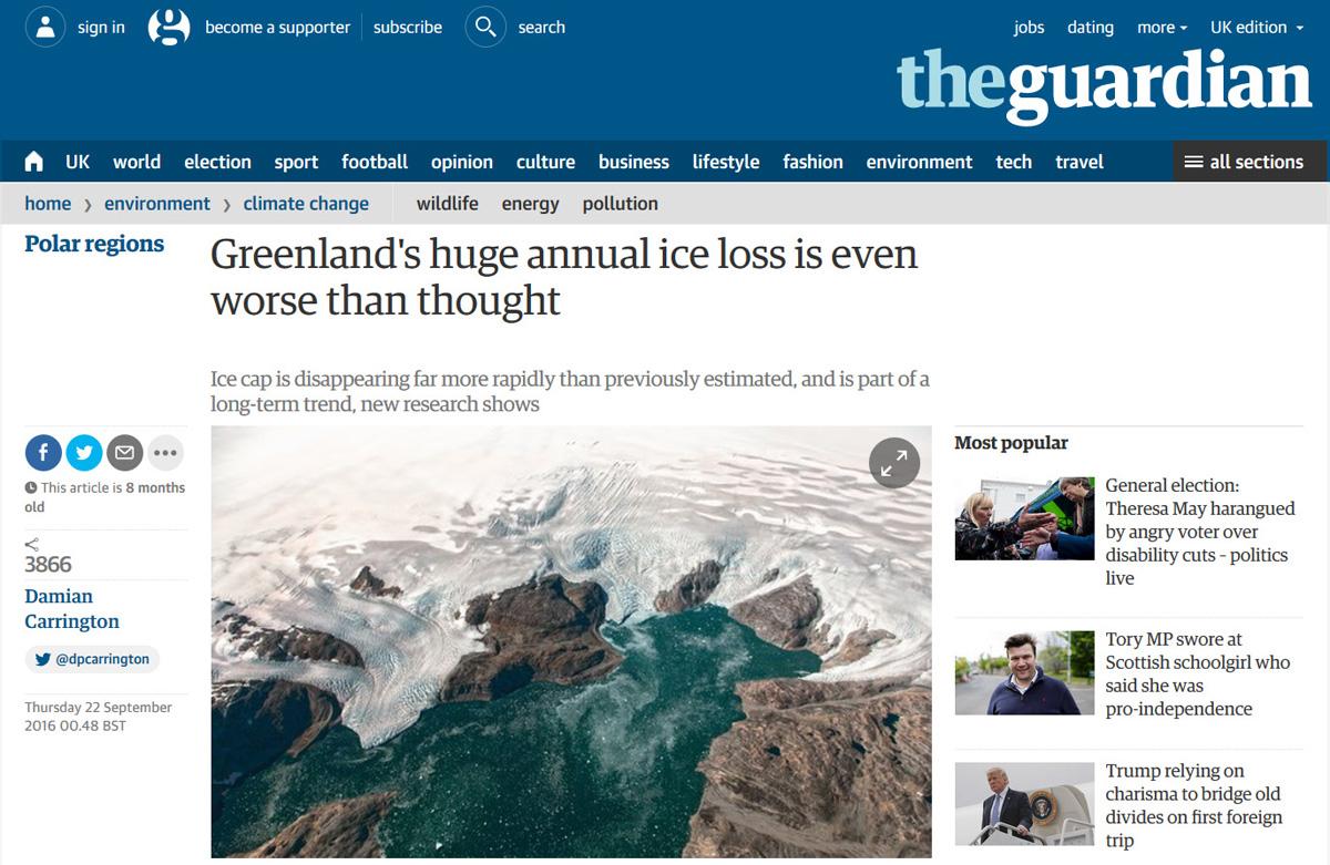 The Guardian website