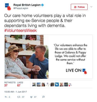 Tweet from Royal British Legion