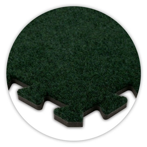 Premium Soft Carpet in Emerald Green