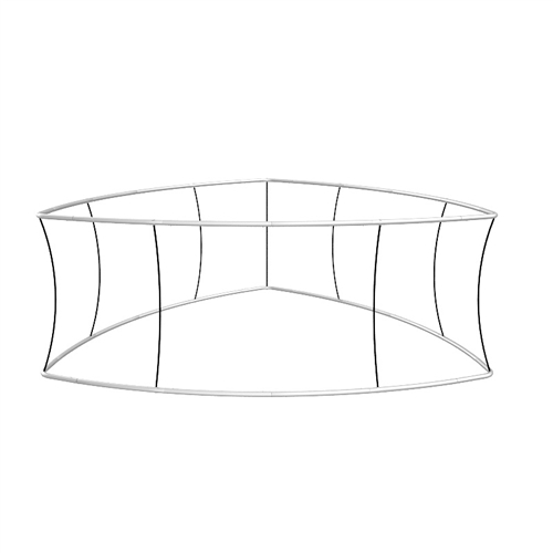 Blimp Trio Curved Triangle Hanging Sign Frame