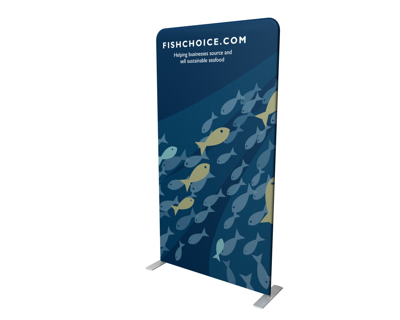 "Waveline 48"" Double-Sided Banner Stand"