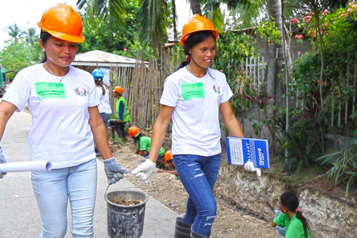 Community-driven projects such as this drainage project in Cebu, Philippines help promote transparency.