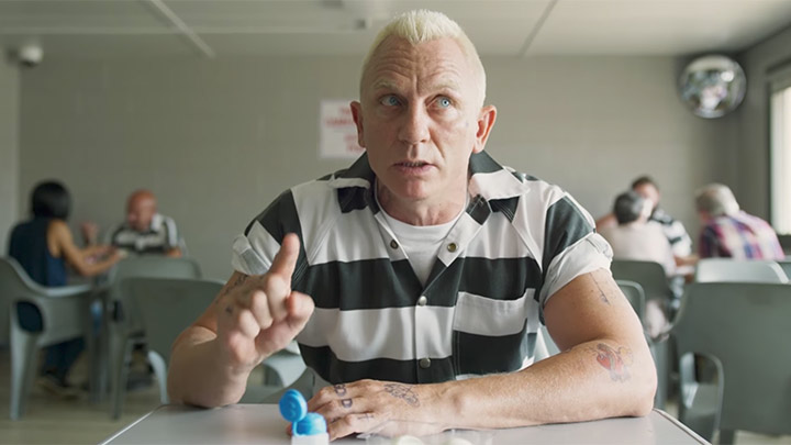 Daniel Craig in a scene from Logan Lucky