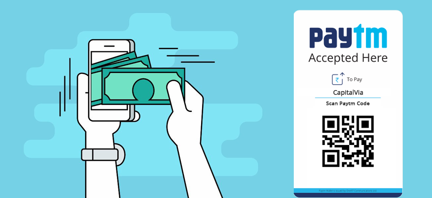 Paytm Accepted here @ Capitalvia