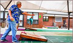 Seniors Playing Cornhole