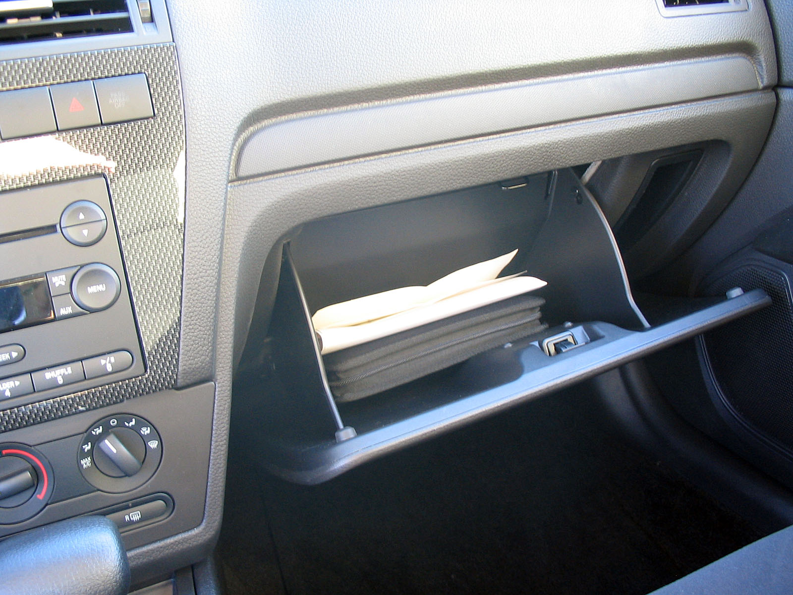 organizing documents in your car's glove box