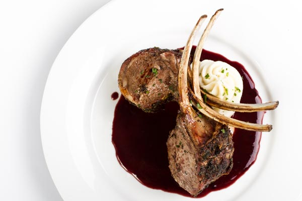 Our Colorado Rack of Lamb with Port Wine Demi Glacé