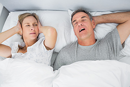 No peaceful rest due to snoring partner