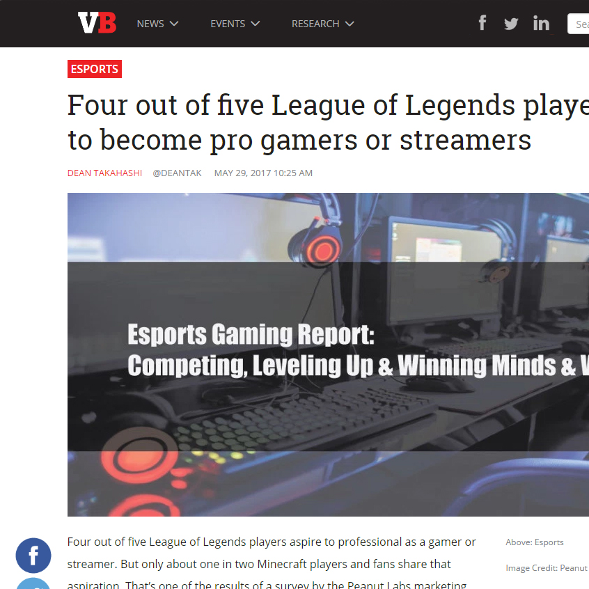 Four out of Five LoL Players Want to Become Pro Gamers