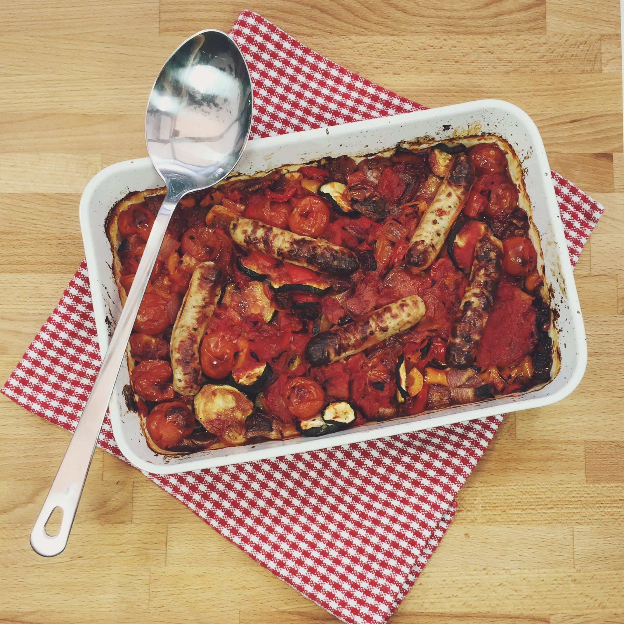 Sausage and Ratatouille Casserole