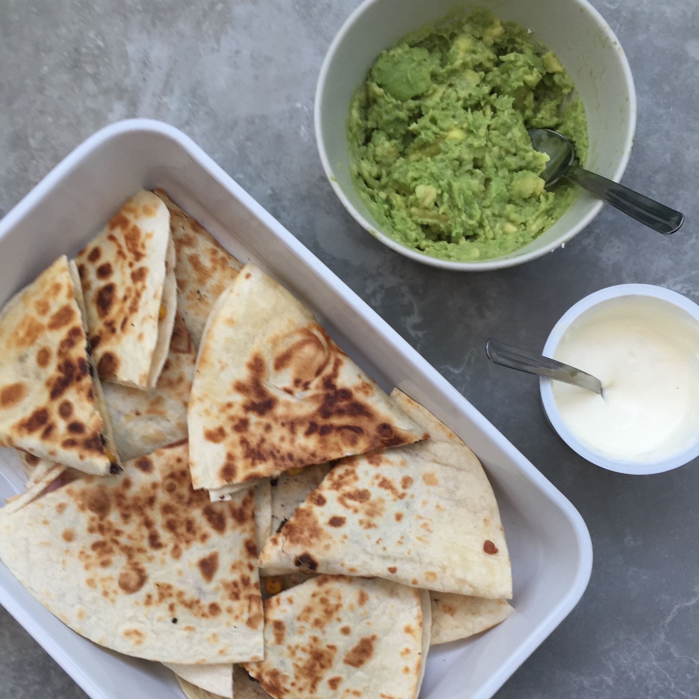 Cheesy Bean Quesadillas