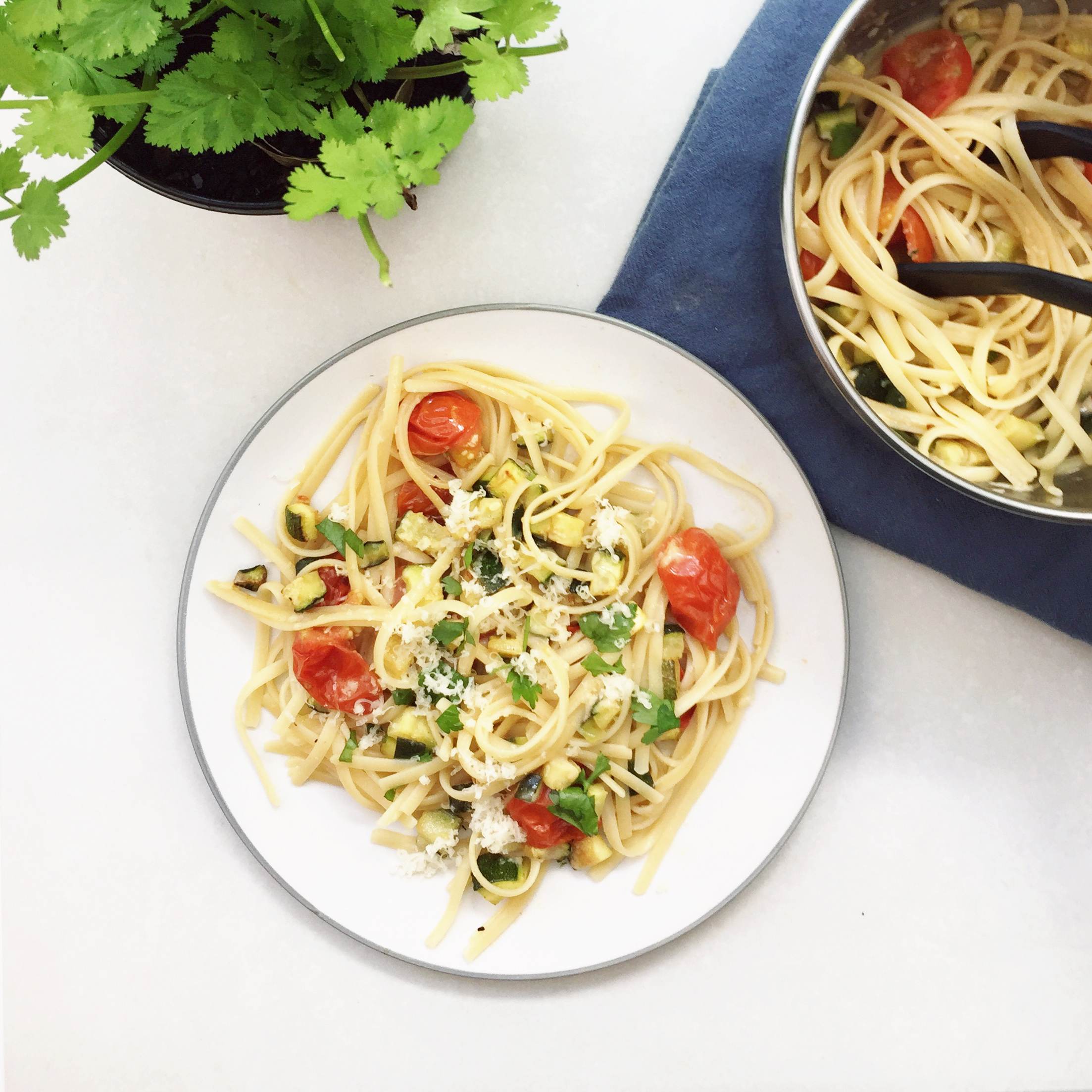 Roasted Tomato and Courgette Pasta