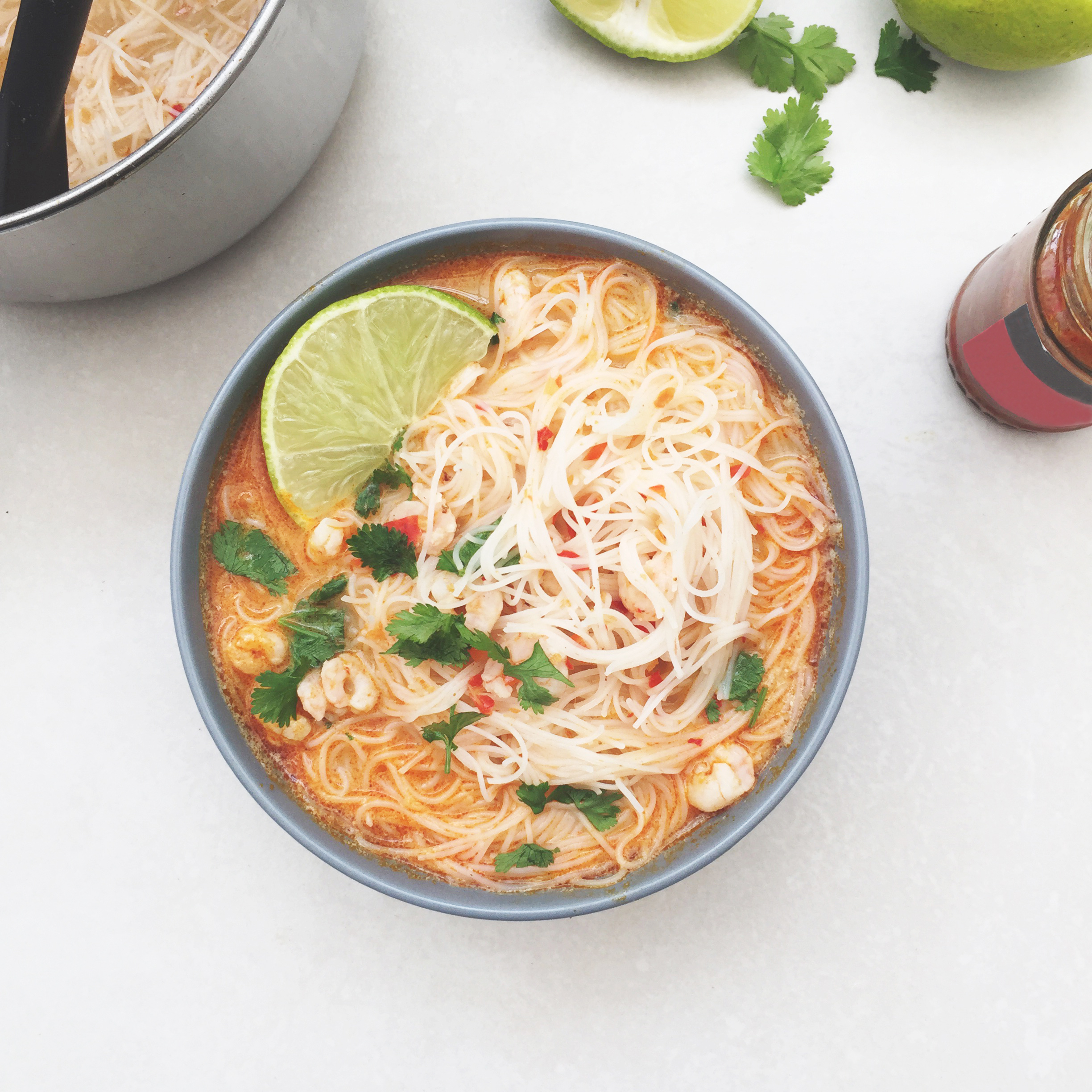 Thai Prawn Noodle Bowl