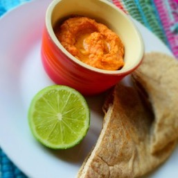 Roasted Red Pepper and Garlic Hummus
