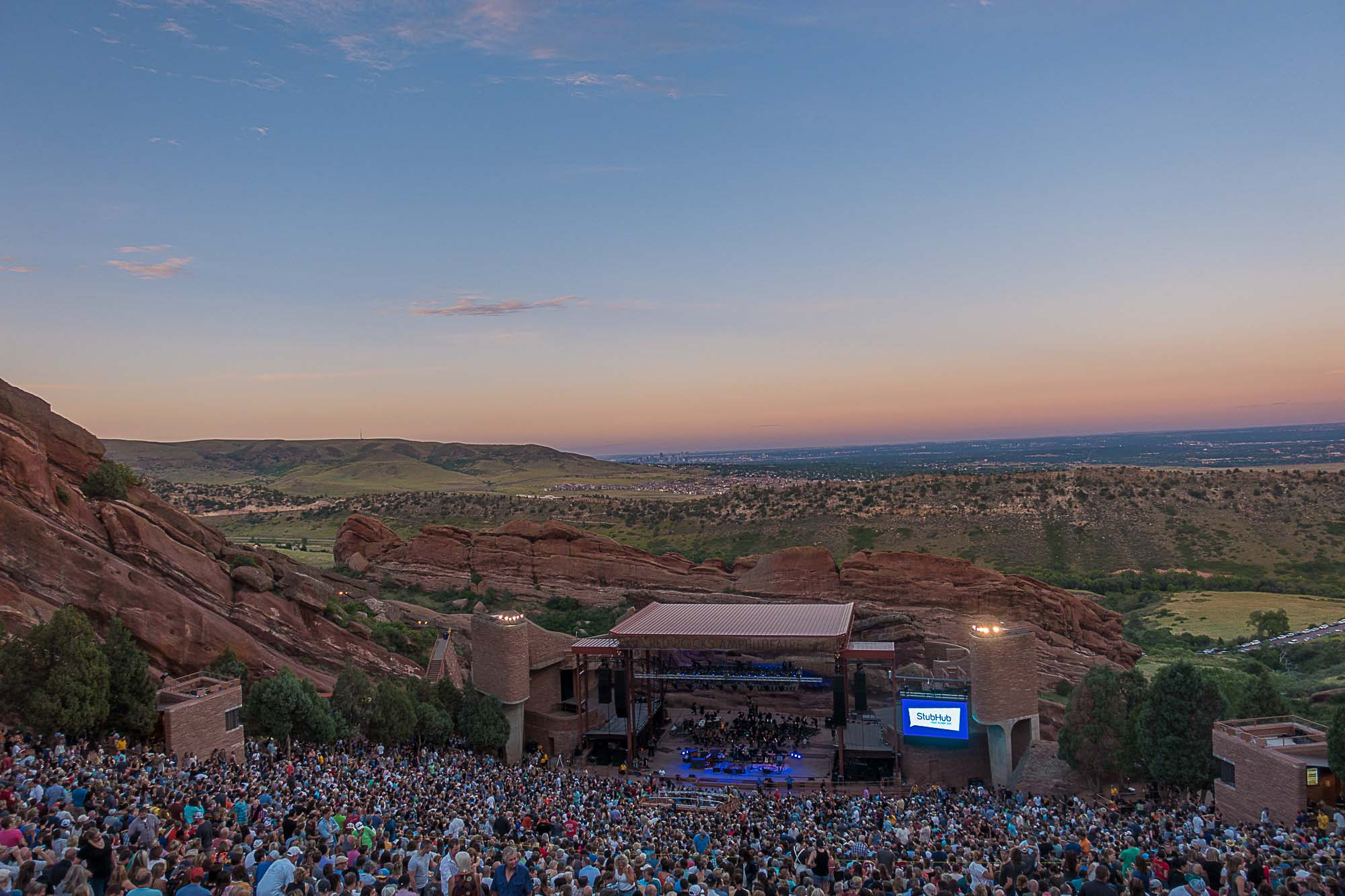 Crowd at Red Rocks outside of Denver, Colorado.