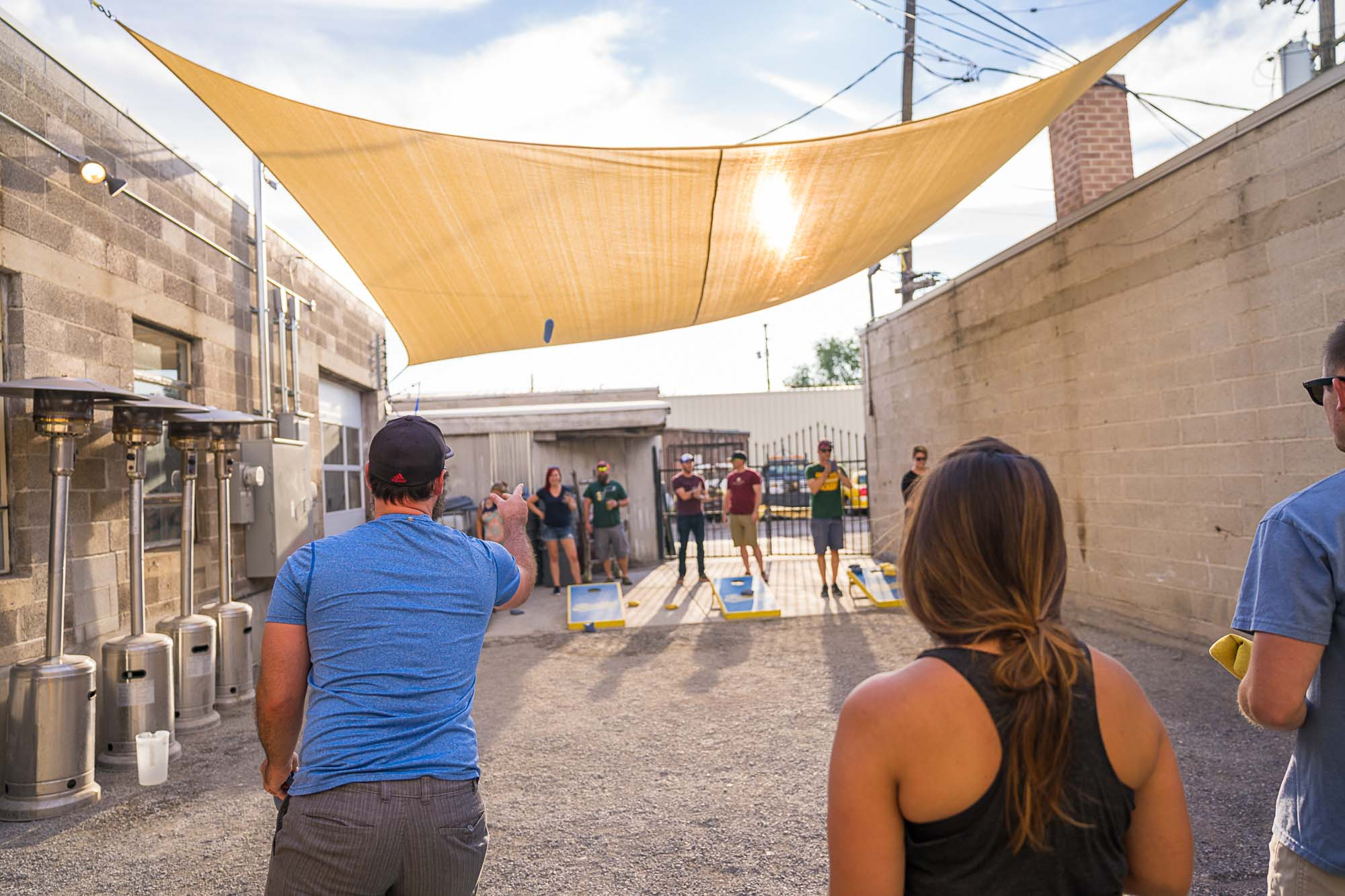 Cornhole at Fisher Brewing is a local must when planning the Ultimate day in Salt Lake City, Utah