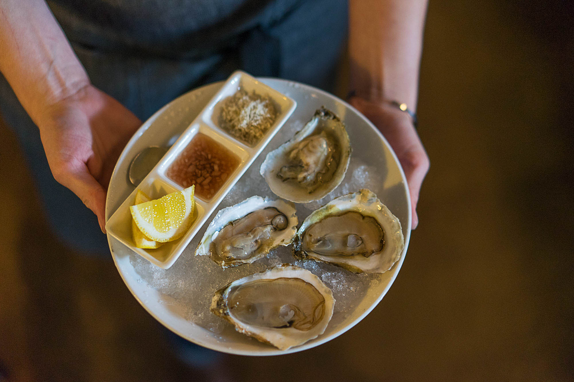 Market fresh oysters at Basta, in Boulder
