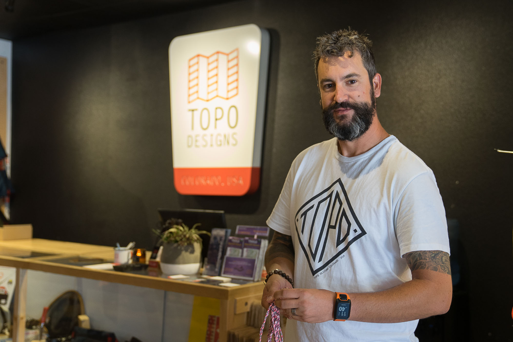 The inside of Topo Designs, an outdoor apparel manufacturer based in Denver, Colorado.