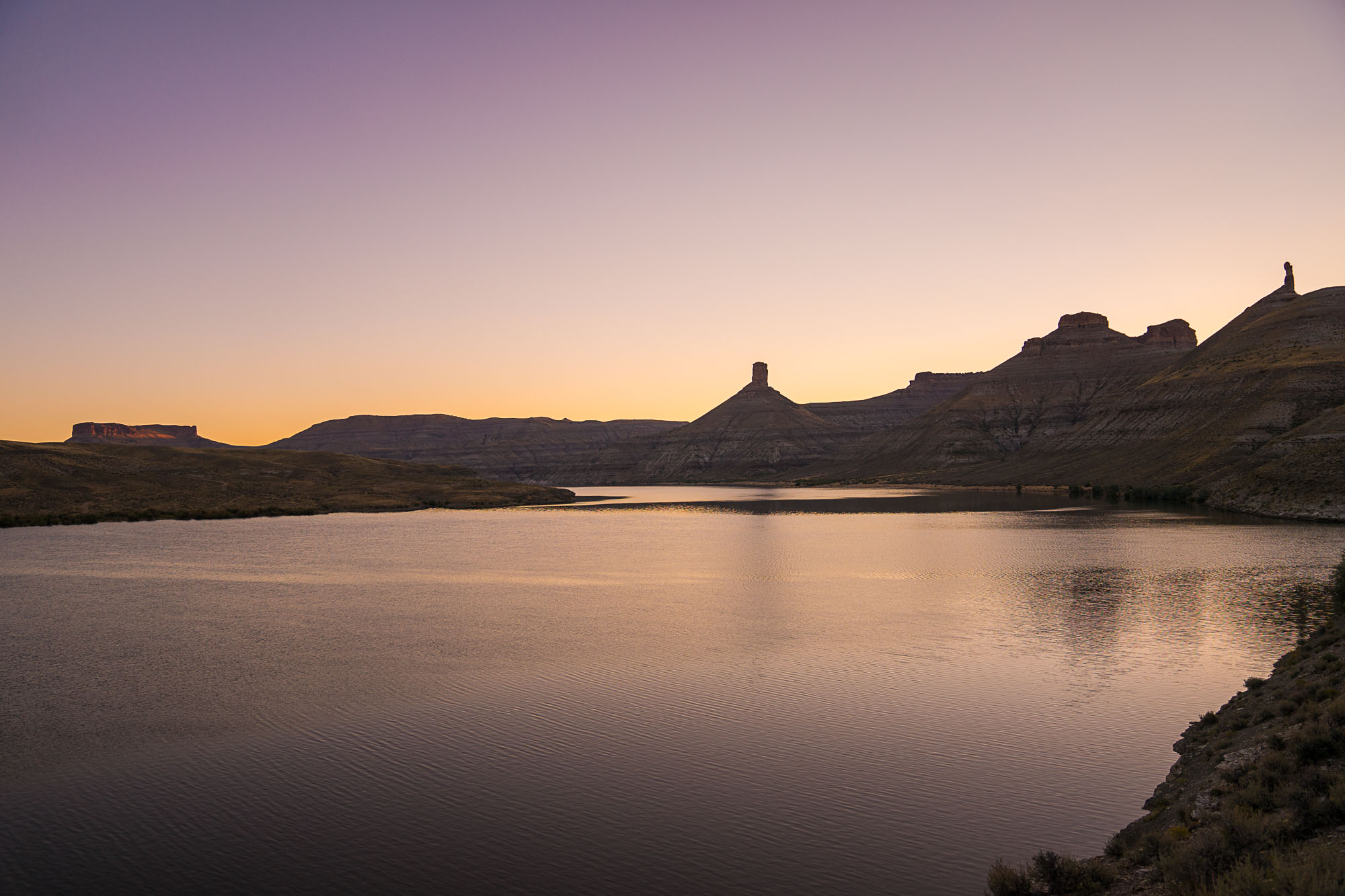 The view from Firehole Canyon campgrounds in Green River, Wyoming.
